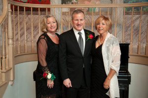 Ron and Amy Lemar and Amy Mazzolin at the 2013 Italian Cultural Center Gala. (Photo by Furla Studio)