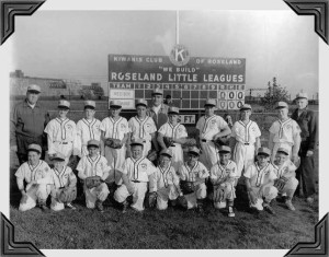 Roseland Little League Year _ Team  _