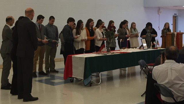 Italian Honor Society Induction Ceremony