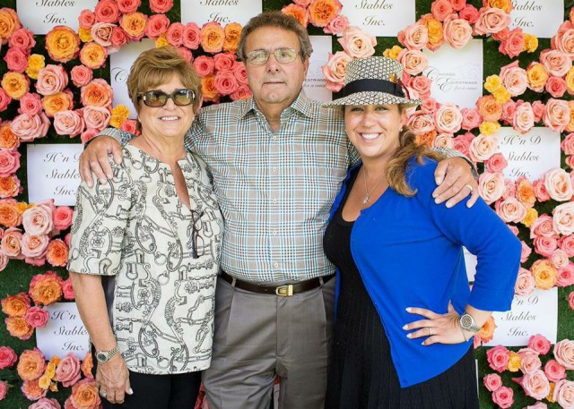 Michelle Durpetti with her parents, Tony and Marion
