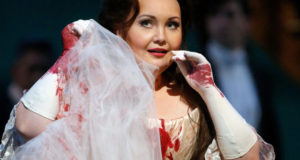 Albina Shagimuratova as Lucia in the Metropolitan Opera production. (Photo by Cory Weaver)