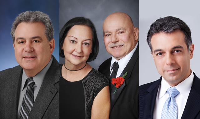 Sam Cicinelli, Allen and Marlene Comella, and Vince Gerasole