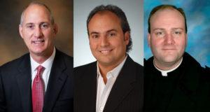 David Figlioli, Ron Onesti and Fr. Dan Brandt