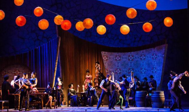 Houston Grand Opera Carmen 2013-2014 Season April 25, 27m, 30, May 02, 04m, 08, 10 Patrick Summers (conductor) Ana Maria Martinez (Carmen) Uliana Alexyuk (Frasquita) Carolyn Sproule (Mercedes) Dancers Photo by Lynn Lane